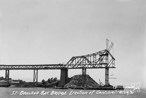Photograph - Construction Of The Eastern Span San Francisco Oakland Bay Bridge June 29 1930 by California Views Archives Mr Pat Hathaway Archives