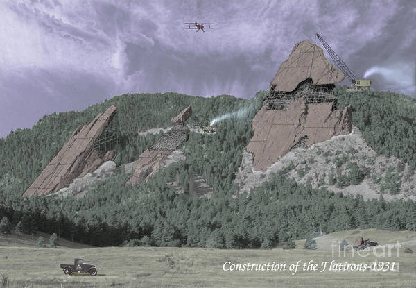 Wall Art - Photograph - Construction Of The Flatirons - 1931 by Jerry McElroy