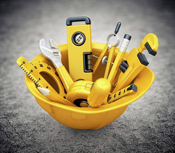 Housing Project Photograph - Construction Tools by Pagadesign