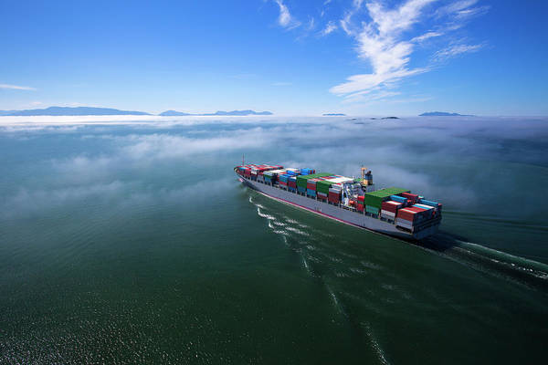 Freight Transport Wall Art - Photograph - Container Ship by Dan prat