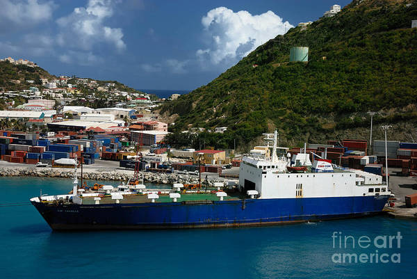 St. Maarten Photograph - Container Ship St Maarten by Amy Cicconi