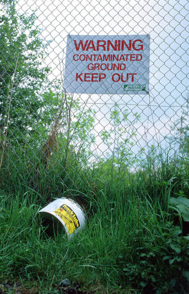 Notice Photograph - Contaminated Ground Sign by Robert Brook/science Photo Library