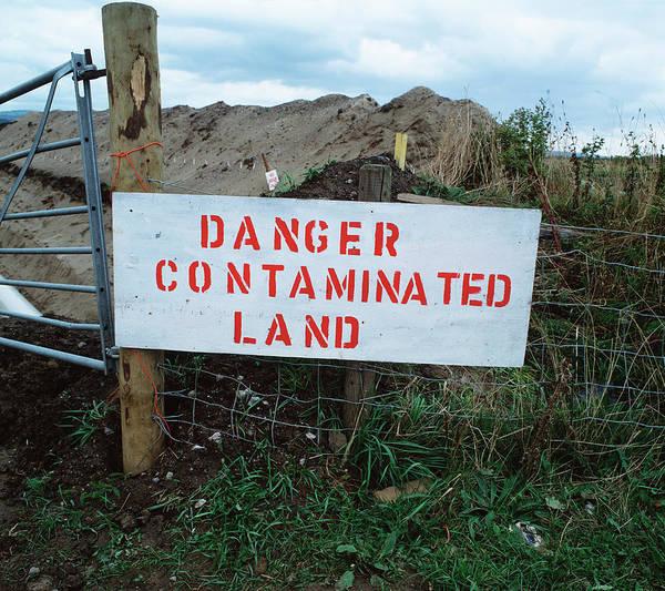 Contaminated Land Warning Sign Art Print