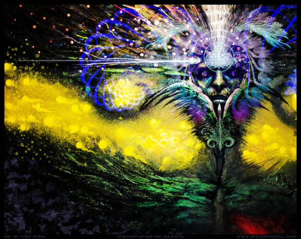 3rd Eye Mixed Media - Contemplating The Majestic   by Tony Koehl