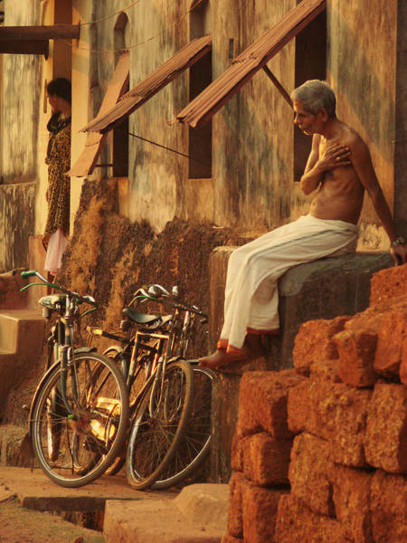 Holi Photograph - Contemplation. Indian Collection by Jenny Rainbow