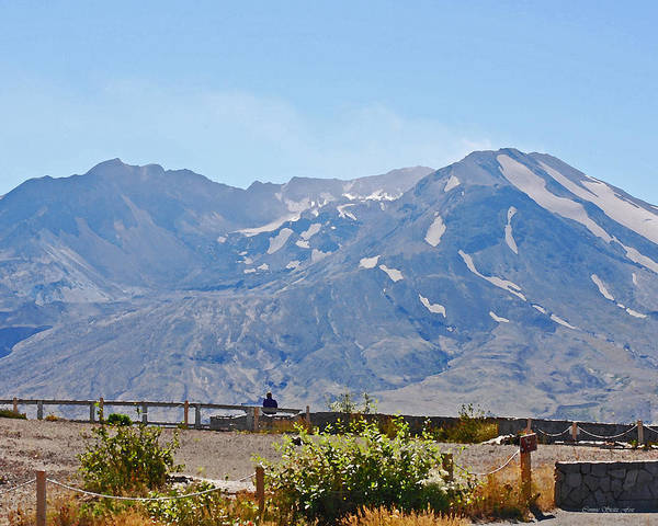 Wall Art - Photograph - Contemplation - Mount St. Helens by Connie Fox
