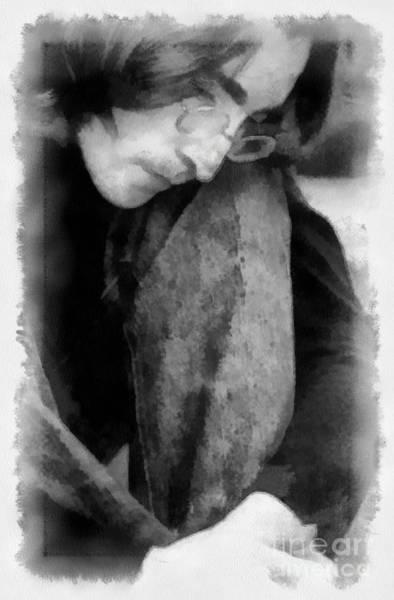 Digital Art - Contemplative John by Paulette B Wright