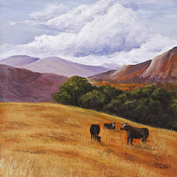 Painting - Contented Cows by Darice Machel McGuire