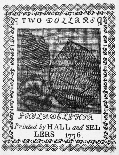 Photograph - Continental Banknote, 1776 by Granger