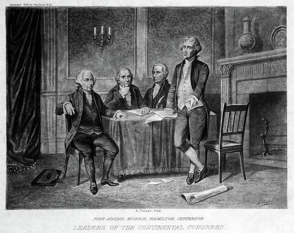 Wall Art - Drawing - Continental Congress, 1775 by Granger