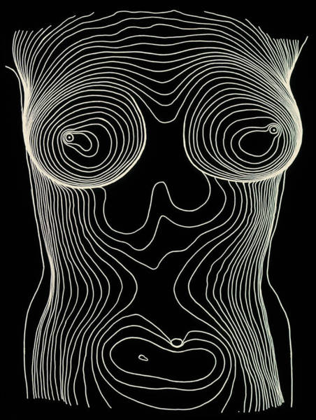 Contour Photograph - Contour Map Of Female Chest & Abdomen by Dr Robin Williams/science Photo Library
