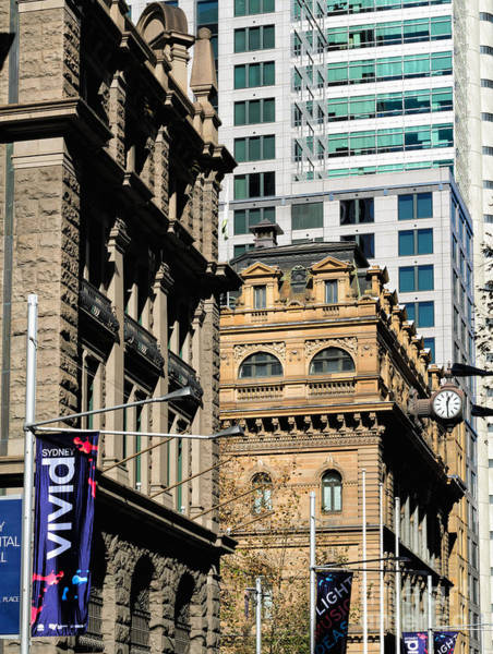 Photograph - Contrasting Architecture - Old Sydney Sandstone With Modern Buildings Behind by David Hill