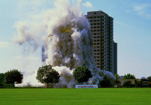 Wall Art - Photograph - Controlled Demolition Of Tower Block by Alex Bartel/science Photo Library