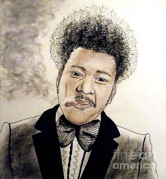 Julio Jones Wall Art - Drawing - Controversial Fight Promoter Don King  by Jim Fitzpatrick