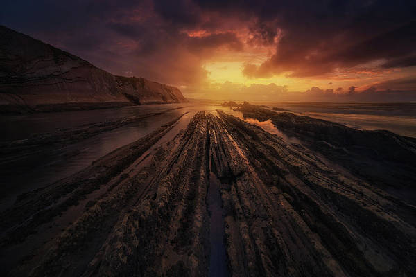 Sunbeam Photograph - Convergence by Miguel Angel Martin