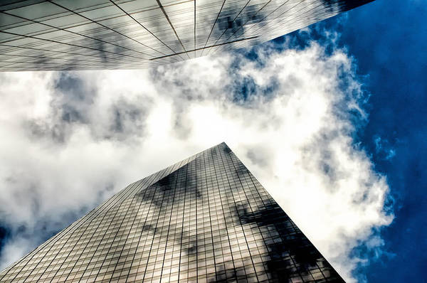 Photograph - Converging Towers And Clouds by Gary Slawsky