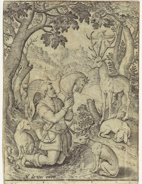 Wall Art - Drawing - Conversion Of H Hubertus, Hieronymus Wierix by Hieronymus Wierix