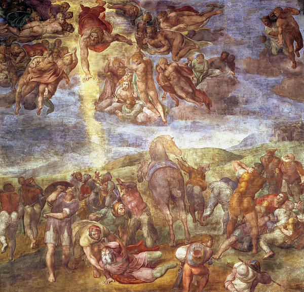 New Testament Photograph - Conversion Of St. Paul Fresco by Michelangelo Buonarroti