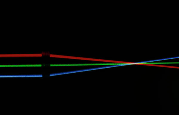 Refraction Wall Art - Photograph - Convex Lens Showing Light Refraction by David Parker/science Photo Library