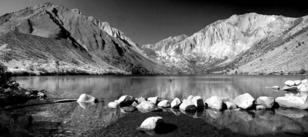 Photograph - Convict Lake Pano In Black And White by Lynn Bauer