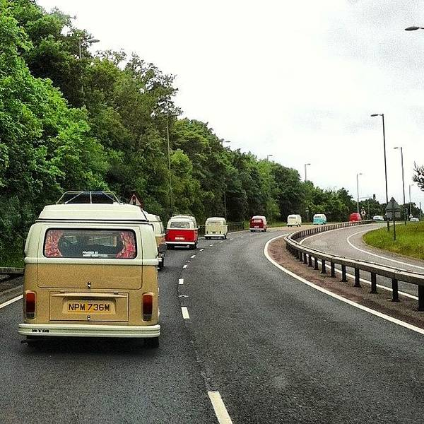 Vw Camper Photograph - Convoy To The #camper&busshow At by Jimmy Lindsay