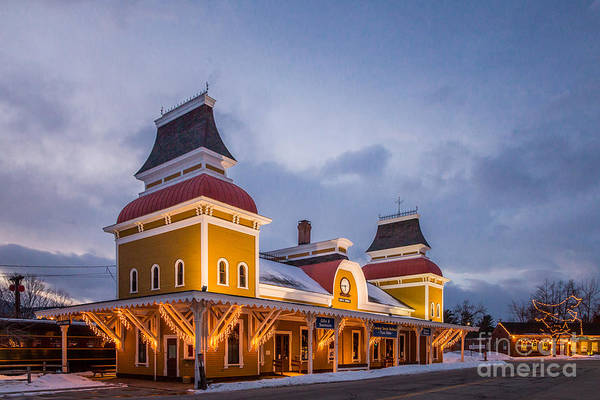Photograph - Conway Railroad Depot by Susan Cole Kelly