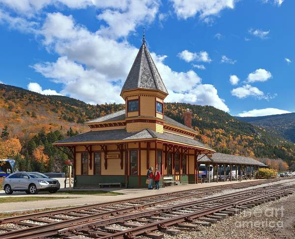 Photograph - Conway Scenic Railroad Crawford Depot by Adam Jewell