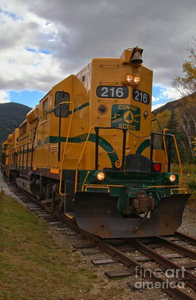 Photograph - Conway Scenic Railroad Portrait by Adam Jewell