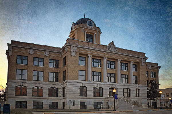 Photograph - Cooke County Courthouse by Joan Carroll