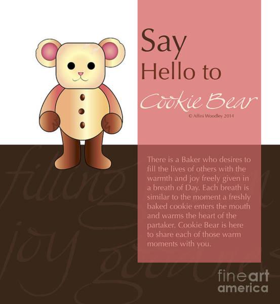 Wall Art - Digital Art - Cookie Bear by Affini Woodley