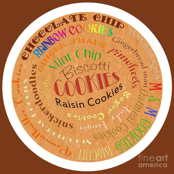 Digital Art - Cookie Typography by Andee Design