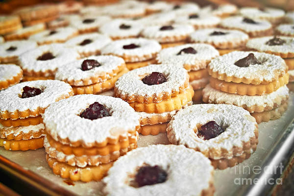 Wall Art - Photograph - Cookies On Baking Tray by Elena Elisseeva
