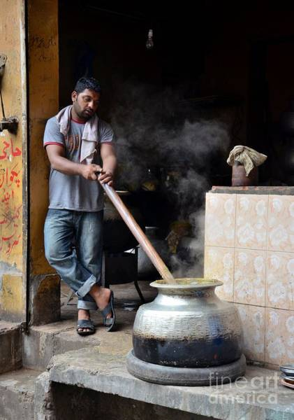 Cooking Breakfast Early Morning Lahore Pakistan Art Print