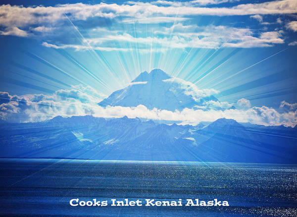 Mount Redoubt Photograph - Cooks Inlet by Debra  Miller