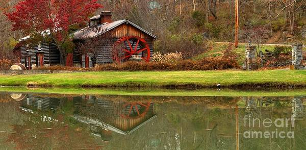 Photograph - Cook's Mill Forge Building Panorama by Adam Jewell