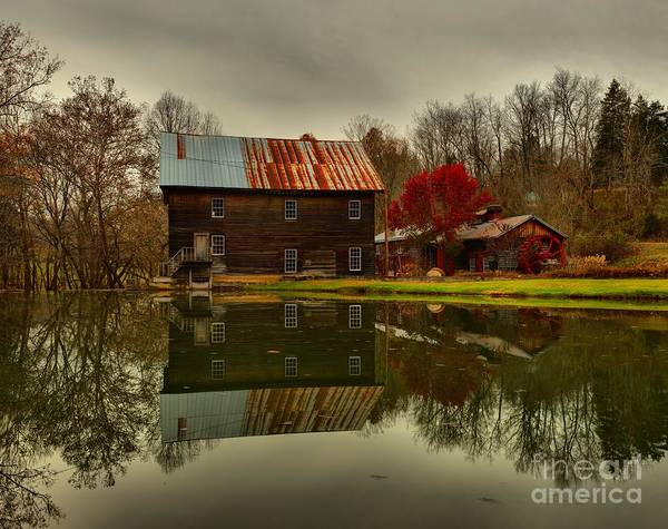 Photograph - Cook's Old Mill - West Virginia by Adam Jewell