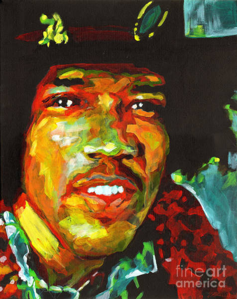 Painting - American Legend Jimi Hendrix  by Tanya Filichkin