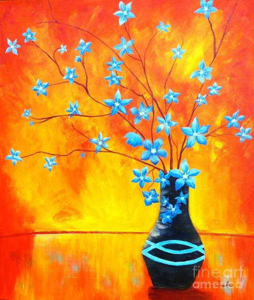 Painting - Cool Blue On Fire by Alicia Fowler