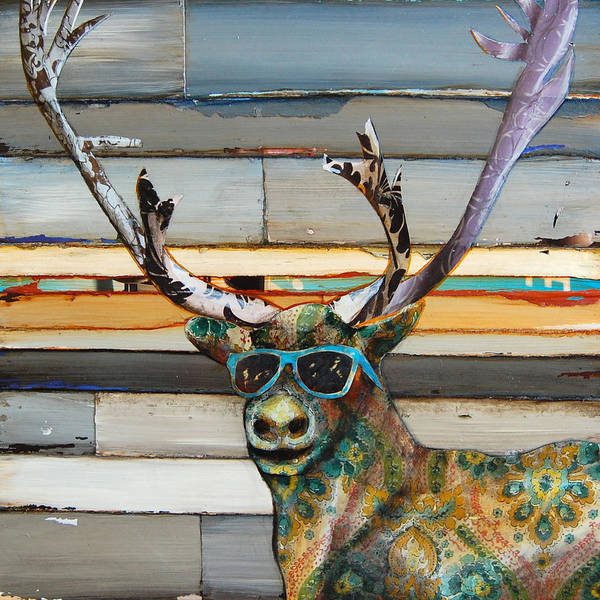 Cool Mixed Media - Cool Caribou by Danny Phillips