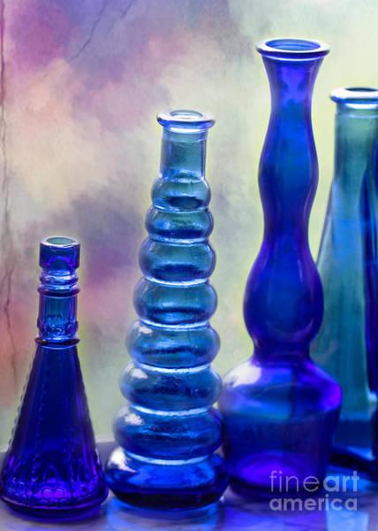 Photograph - Cool Cobalt Blue Bottles by Sabrina L Ryan