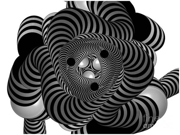 Painting - Cool Coils In Black And White by Barefoot Bodeez Art