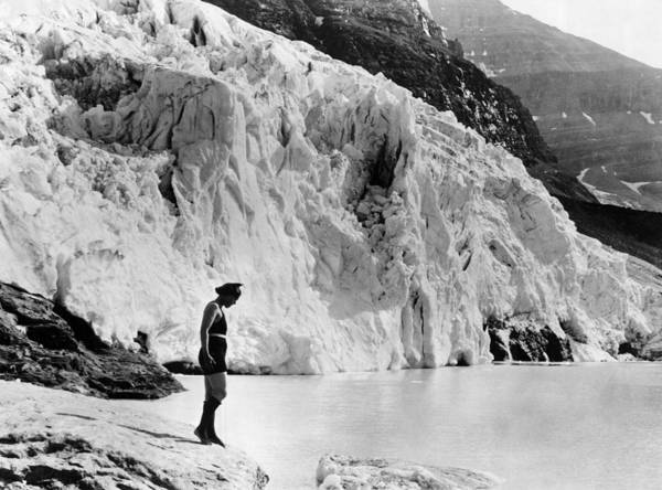 Wall Art - Photograph - Cool Dip In Glacier Fed Lake by Underwood Archives
