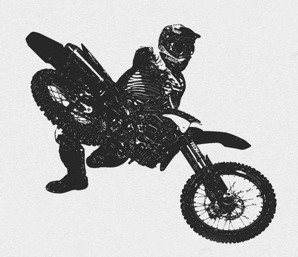 Dirt Bike Photograph - Cool Dude Flying by David Lee Thompson