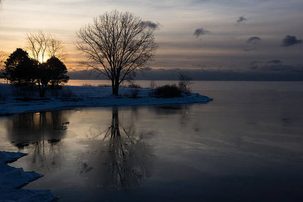 Photograph - Cool Gray Reflections And Ice Patches by Georgia Mizuleva