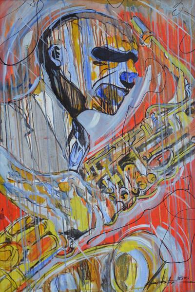 Sax Painting - Cool Heat by Hasaan Kirkland