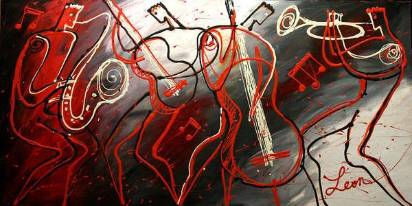 Wall Art - Painting - Cool Jazz 2 by Leon Zernitsky
