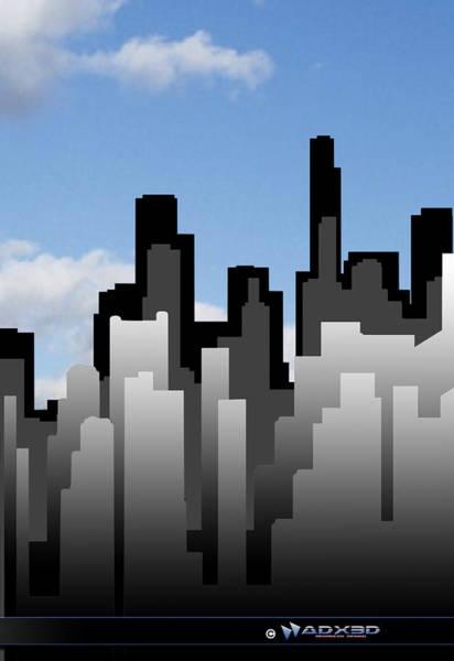 Cool Jazz Digital Art - Cool Jazz City  by A Dx