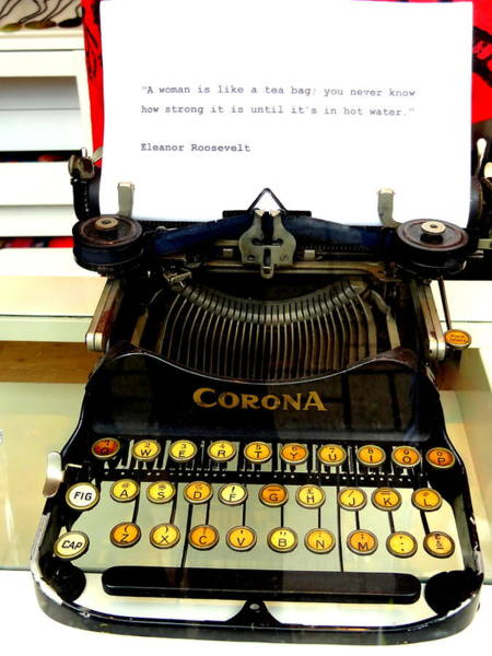 Wall Art - Photograph - Cool Message On A London Vintage Typewriter by Funkpix Photo Hunter