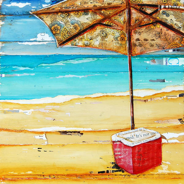 Beach Collage Painting - Cool Off by Danny Phillips