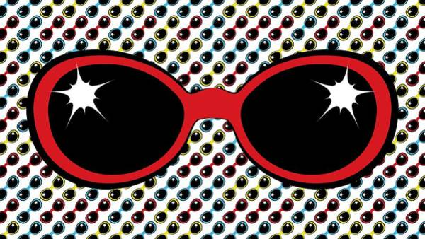 Digital Art - Cool Retro Red Sunglasses by MM Anderson